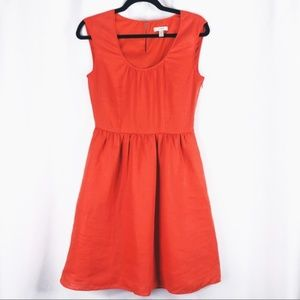 J. Crew Woman's Orange Linen Dress Size 0